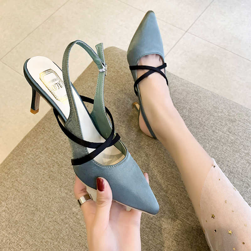 2019 Women Shoes Pointed Toe Pumps  Dress Shoes High Heels Boat Shoes Wedding Shoes Tenis Feminino 6cm Square Heel Nightclub