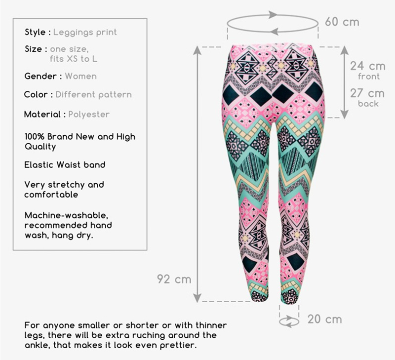 Zohra Brand New Fashion Aztec Printing legins Punk Women's Legging Stretchy Trousers Casual Slim fit Pants Leggings 3