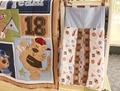 9Pcs Baby bedding set Embroidery bear baseball Crib bedding Cot bedding set Quilt Bumper Skirt Mattress Cover Urine bag blanket