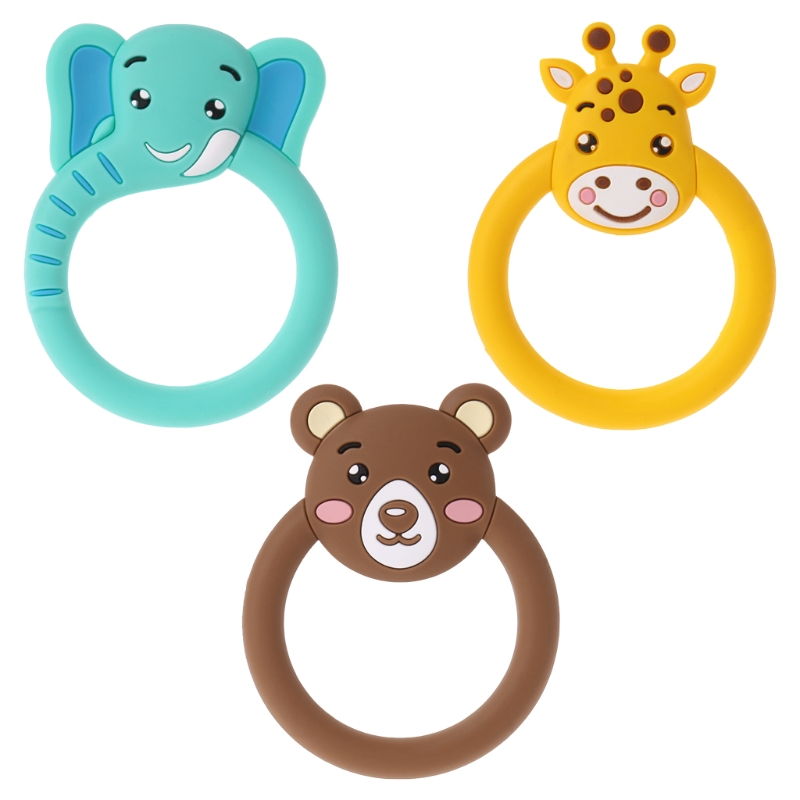 Baby Teether Pacifier Cartoon Teething Nursing Silicone BPA Free Necklace Toys(China)