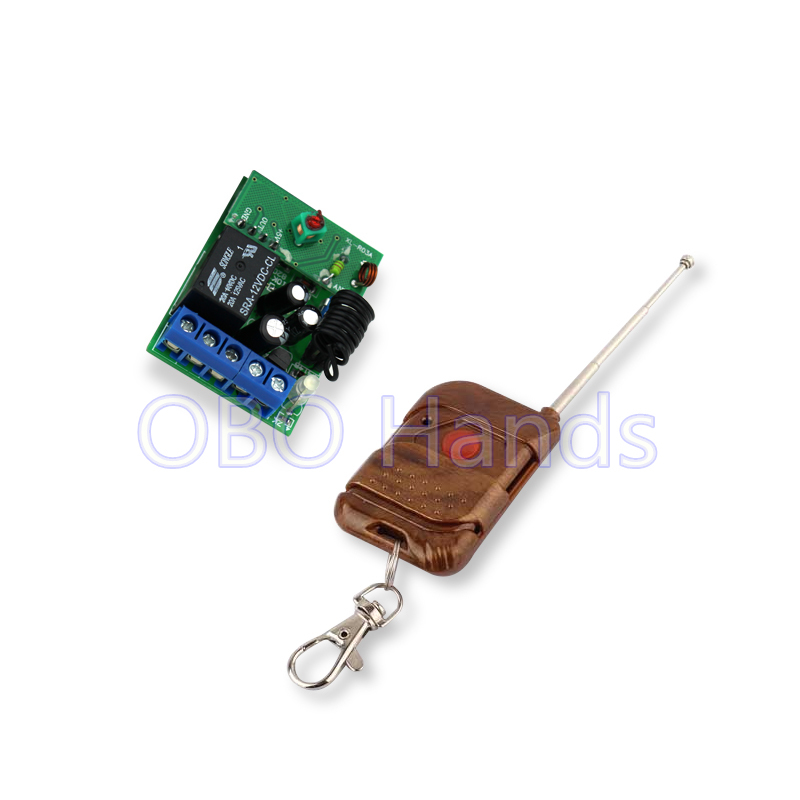 New arrival 433/315MHz 12V wireless remote control 1CH relay receiver module and RF transmitter for door lock up to 50m-TM31
