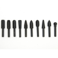 10pcs File Rasp Set For Wood Drill Rasps Burrs Used Electric Grinder Tree Carving Wood Carving