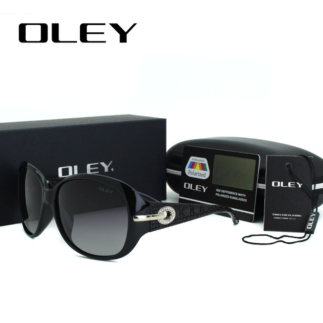 OLEY Oversized Round Sunglasses Women Polarized Elegant Ladies Sun Glasses Female Eyewear oculos de sol feminina Shades Y5103