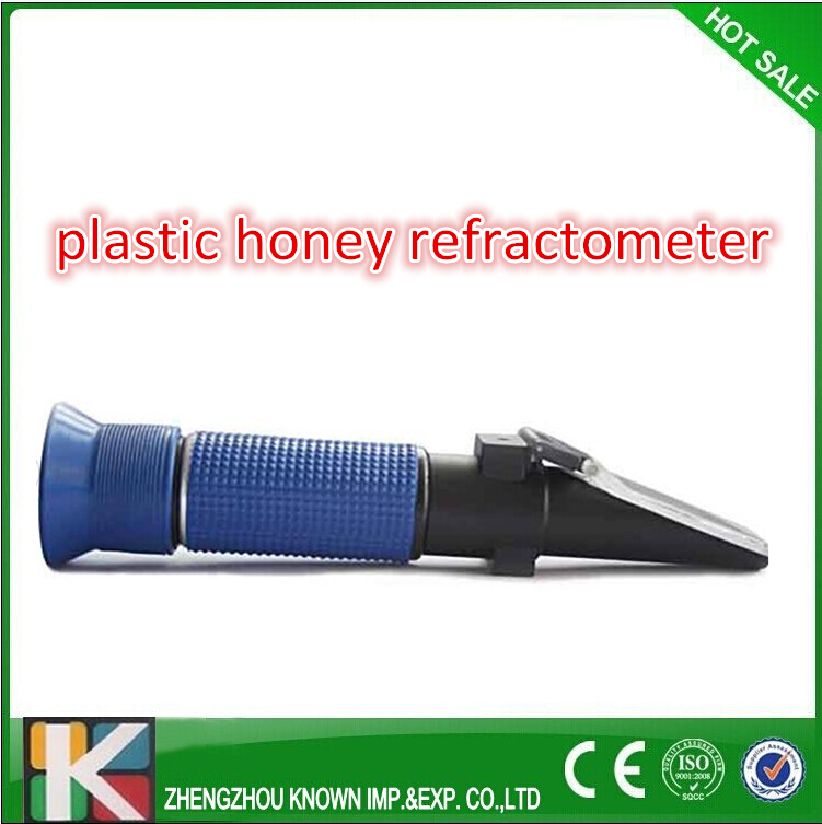 plastic honey bee refractometer/manual honey refractometer handheld honey meters 58 90% brix 38 43 be and 10 33% water refractometer honey baume