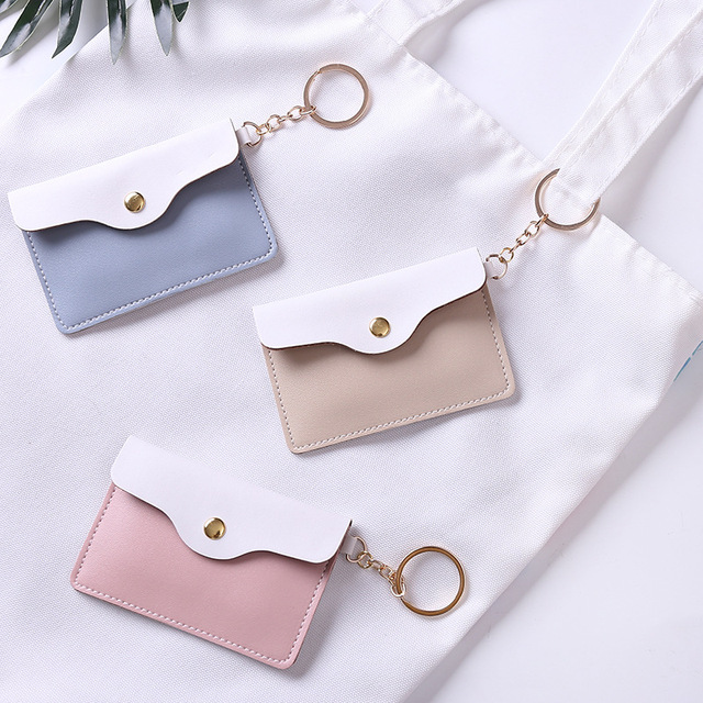 4d798fa730399e Sweet Coin Purse Women Leather Slim Wallet Card Holder Coins Cover Money Bag  Key Ring Mini Pouch Lady Mini Ultra-Thin Clutch