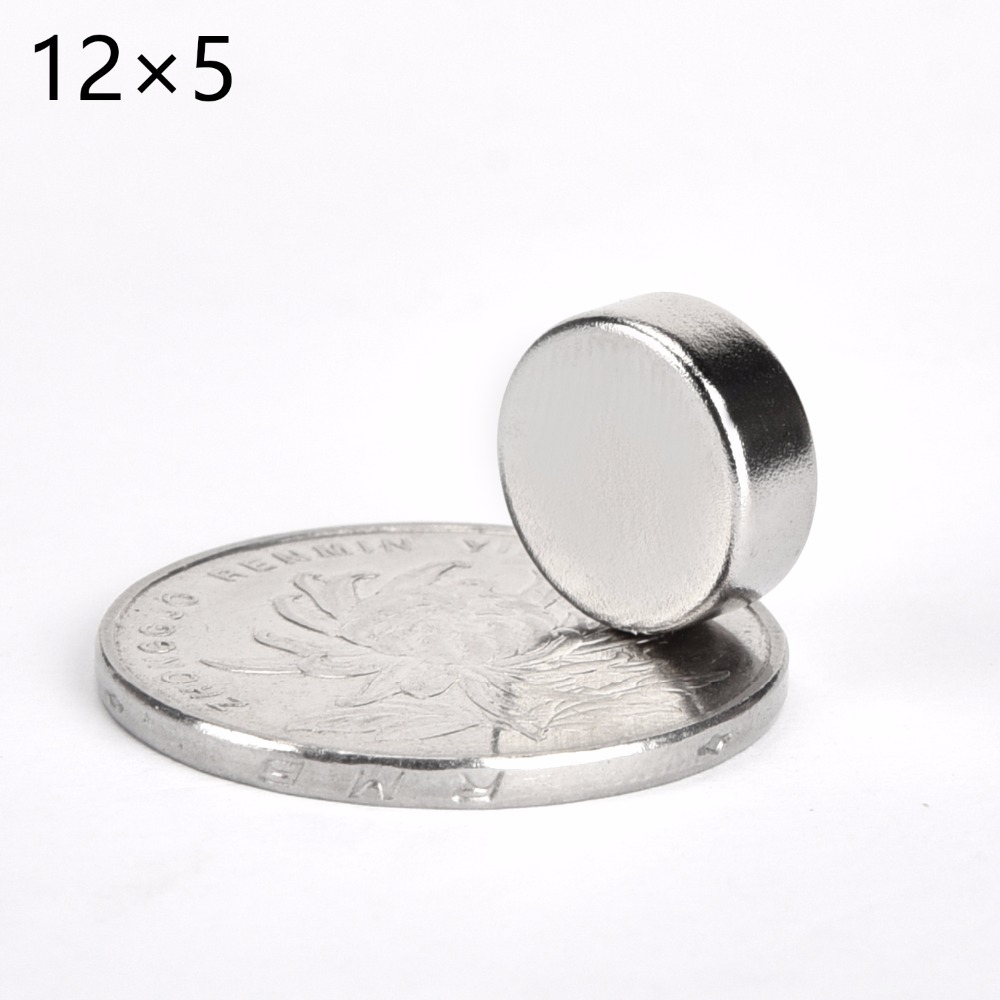 Wholesale 200pcs 12mm x 5mm 12x5 Disc Round Cylinder Rare Earth Neodymium Magnets 12 5 NEW