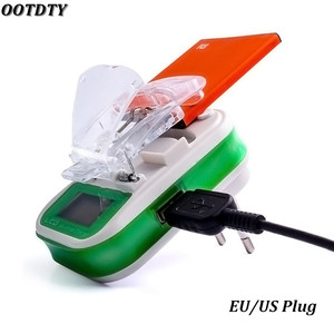 Image 1 - USB Universal Battery Charger LCD Indicator Screen EU/US Plug For Cell Phones USB Charger Samsung Battery Charger + Tracking