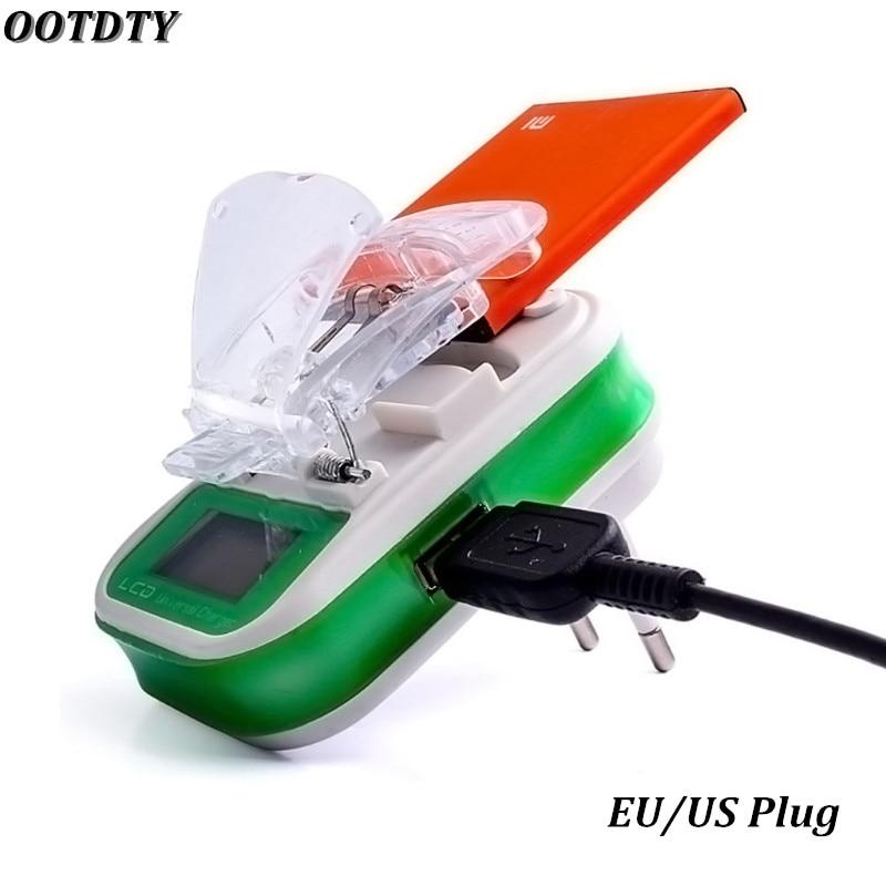 USB Universal Battery Charger LCD Indicator Screen EU/US Plu