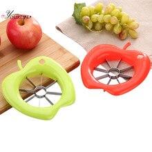 OYOURLIFE-cortadora de manzana de acero inoxidable multifunción para cocina, cortador de frutas, cortador de frutas, fácil corte, 1 ud.