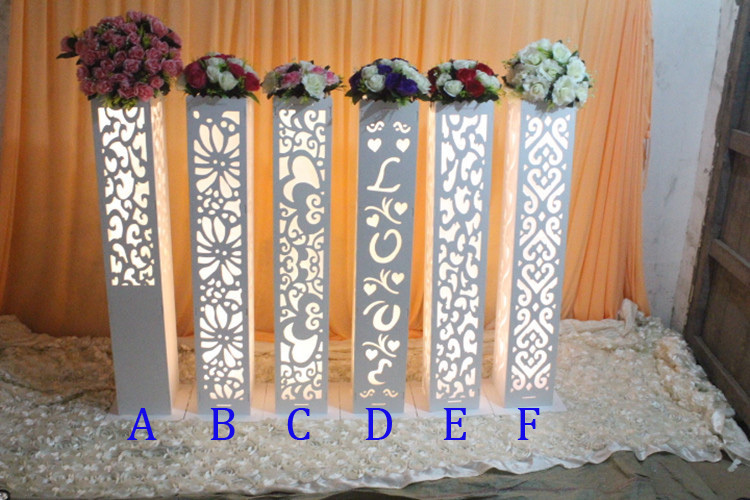wholesale wedding hollow out carved pillar column without light wedding road lead wedding decoration