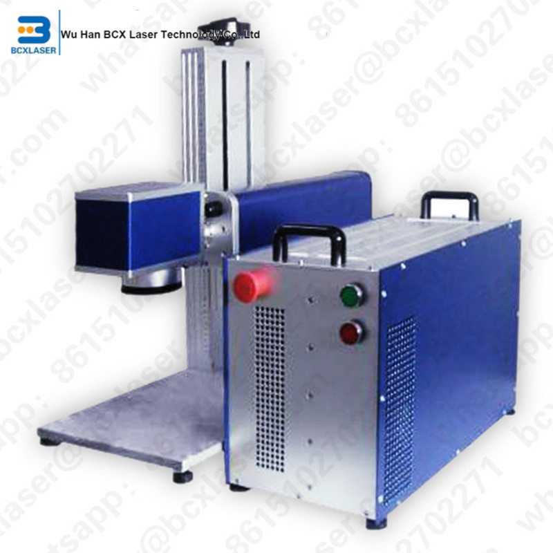 High Quality 20W/30W Fiber Laser Marking Machine For Auto ,motocycle Parts,packaging For Goods,beverage , Cigarette