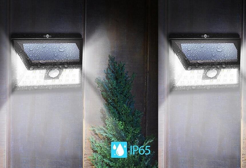Licht En Bewegingssensor : Unieke groothoek 34 led solar lamp security bewegingssensor licht