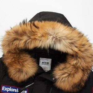 Image 5 - BOSIDENG nouvelle veste en duvet doie dhiver pour hommes épaissir vêtements dextérieur vraie fourrure à capuche imperméable à leau coupe vent de haute qualité B80142143