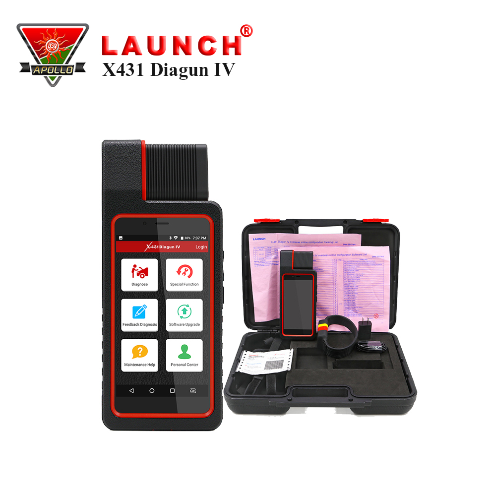 Launch X431 Diagun IV Automotive Scanner Launch Auto Come With Brake,Oil,SAS,TPMS Reset Functions тестер аккумулятора launch x431