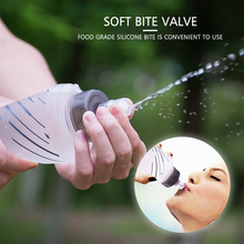 450ml / 500ml Reusable Outdoor Water Drinking Bottle Soft Folding Flask BPA Free Water Bladder Kettle for Running Hiking Camping цена и фото