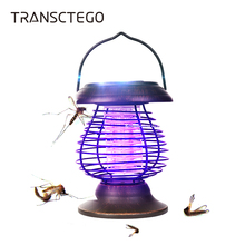 Solar Light Portable Mosquito Killer Battery Powered Lamp Bug Zapper Outdoor For Garden Camp Insect Repeller Hanging