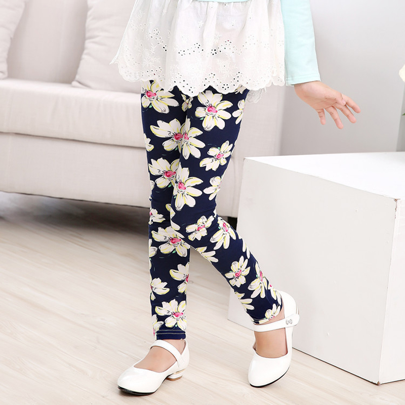 Printing Flower Girls Leggings Teenager Spring Girls Pants Toddler Classic Legging Baby Kids Leggings Children's Clothing
