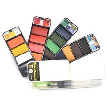 hot-Pigment Paints Set Solid Watercolor With Waterbrush For Drawing Painting Watercolors collapsible suit