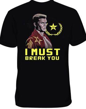 2019 Новая модная футболка с надписью «I Must Break You Rocky Ivan Drago»,  размер футболки