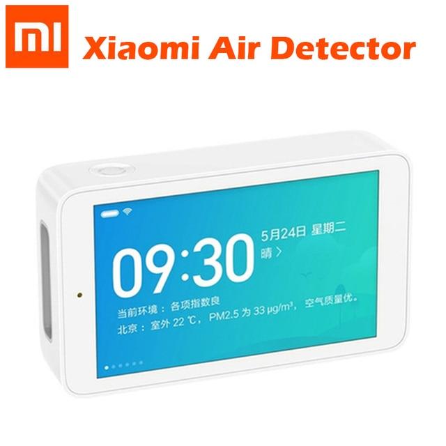 Original Xiaomi Mijia aire Detector de Monitor de calidad de 3,97 pulgadas de pantalla de interfaz USB PM2.5 TVOC CO2a probador de humedad Sensor inteligente