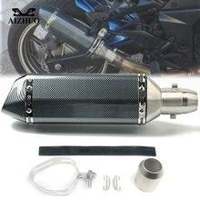 Motorcycle Exhaust pipe Muffler Escape DB-killer 36MM-51MM FOR YAMAHA XV 950 RACER TDM 900 MT-125 MT125 MT-01 YBR 125 YZF R15 51mm 36mm for yamaha yz wr serow ttr xt 50 80 85 90 100 125 225 230 250 426 motorcycle ak exhaust muffler pipe db killer