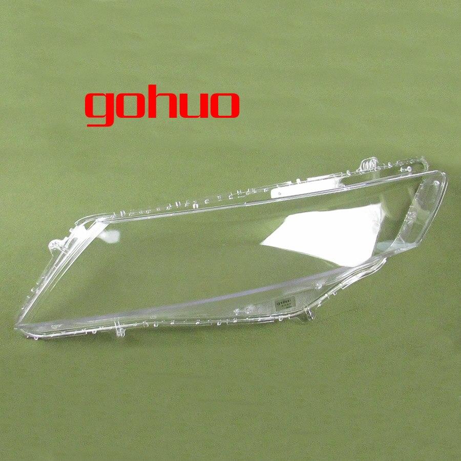 farois dianteiros de shell lampada abajures transparentes mascaras para honda crosstour 11 13 2 pcs