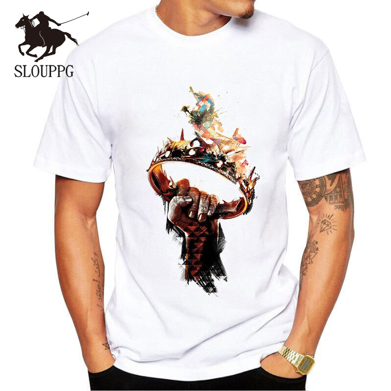 SLOUPPG New 2019   T     Shirts   Men Game of Thrones Printed   T  -  shirt   Round Neck Top Tees Man Casual Short Sleeve Summer Clothing