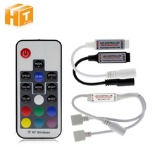 LED RGB Controller Black White Doubel DC12V 17key RF Wireless Remote Controller For RGB LED Strip