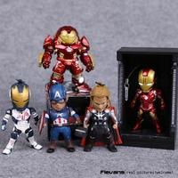 Avengers 2 Age Of Ultron Iron Man Hulkbuster Thor Captain America PVC Action Figures With LED