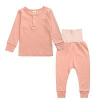 100 Cotton Spring Winter Kids Pajamas Long Sleeve Home Clothing Set Pijama High Waist Kids Robes