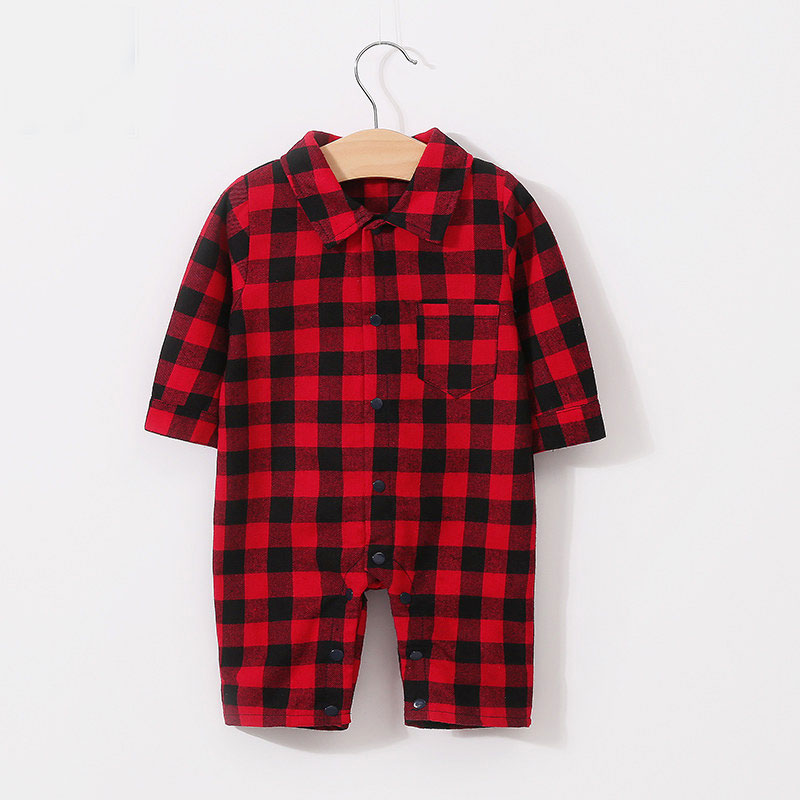 Newborn Baby Rompers Pure Cotton Plaid Long Sleeve Jumpsuits Summer Onesie Girls Clothing Cotton Outfits For Infant 3-18M Kids