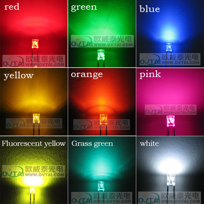 DIY 120 pcs\lot 3mm Round 2x3x4 LED Bulb Beads Ice Blue Rainbow For Cherry Gateron Kailh MX Switches Mechanical Keyboard