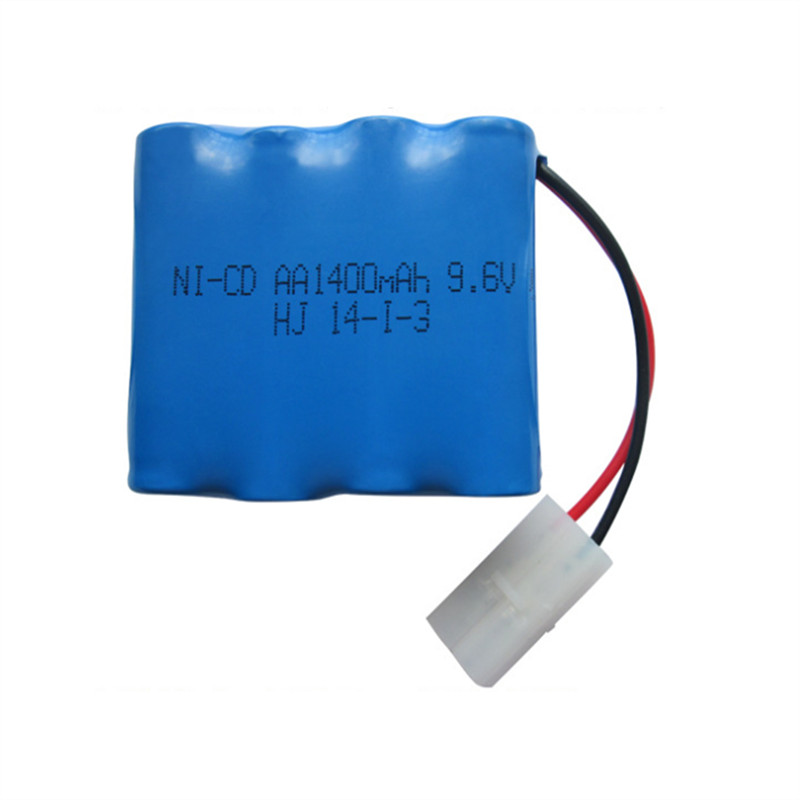 1pc Brand 9.6v 1400mah ni-cd battery nicd ni cd 9.6v aa battery pack rechargeable batteries for cars 9.6v RC boat model toy tank