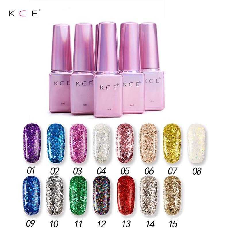 Wholesale KCE Brand 15pcs 1 Set Super Shining Gel Nail