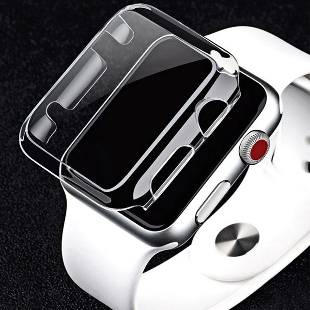 official photos 1fd13 1b087 US $1.49 25% OFF|New 1PCS Transparent Frame Case Clear Ultra Thin Hard PC  Protective Cover For Apple Watch Series 3 2 1 iwatch 38/42mm-in Watchbands  ...