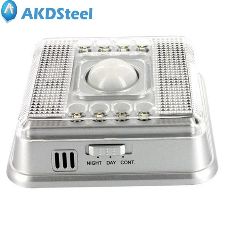 AKDSteel 8LED Intelligent Human Body Induction Lamp Light AA Battary Night Lamp for Corridor Cabinet Bedroom Sensor Emergency tf kids room led sensor night light lamps motion pir intelligent human body induction sleeping lamp yeelight bedroom novelty lamp
