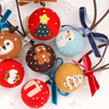 DIY Needle Felting Materail Package With Tools For Cartoon Christmas Decoration Hand Spinning Fun Doll Needlework