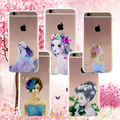 Beautiful Girl Design Case For iphone 6 Case For iphone 6S 6 Plus Transparent TPU Cover Fashion Phone Cases