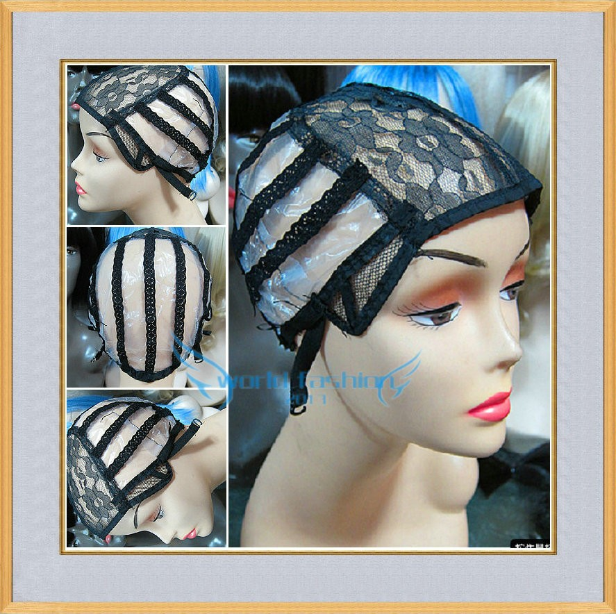 Machine Made Medium Size Black Color Wig Caps Making Weaving Wigs Adjustable Strap Back - Fashion Top Hair Store store