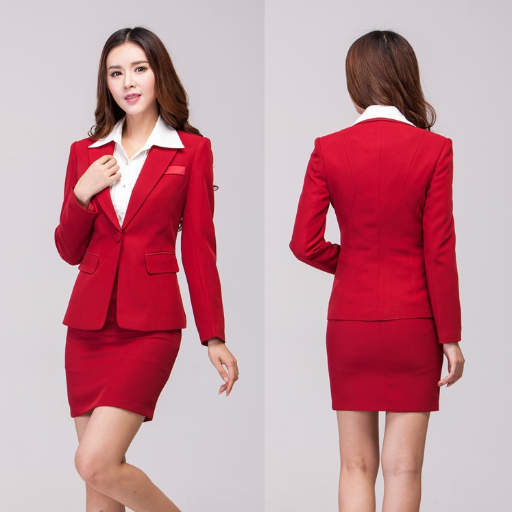 Autumn Winter Formal Female Skirt Suits for Women Work Wear Suits ...