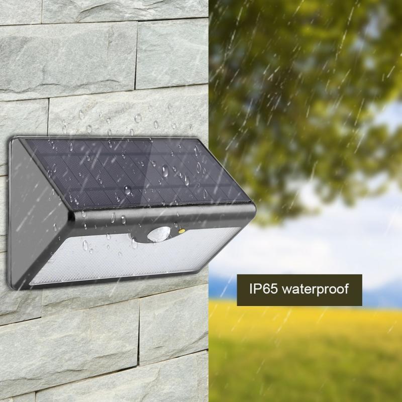 5 Modes 60 LED Solar Light PIR Motion Sensor Light Outdoor Solar Security Wall Lamp Remote Control Solar Lamp luces solares para floor