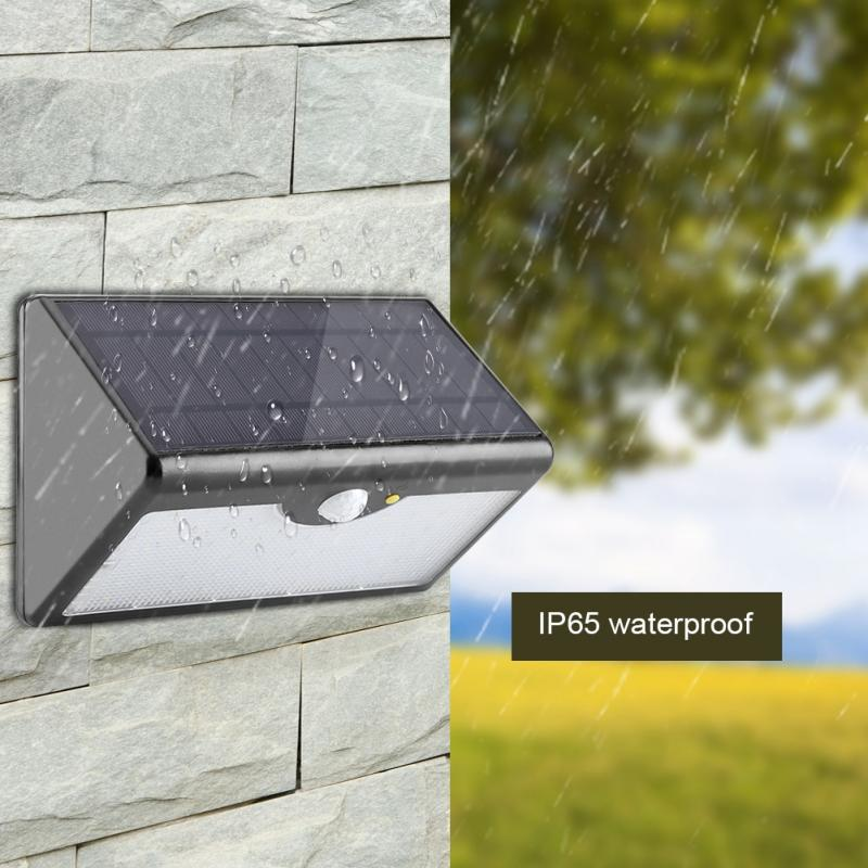 Us 29 81 33 Off 5 Modes 60 Led Solar Light Pir Motion Sensor Outdoor Security Wall Lamp Remote Control Luces Solares Para In