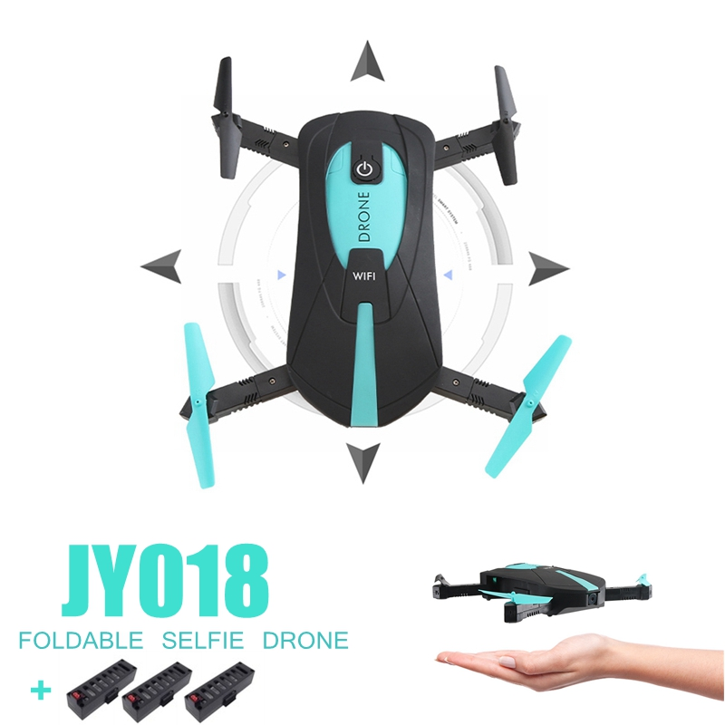 Mini Foldable Selfie Drone Elfie Pocket Drone With Camera Wifi Rc Helicopter Remote Control Toy Jy018 Quadcopter rc drone jy018 foldable quadcopter selfie helicopter mini drone with wifi camera hd pocket drone