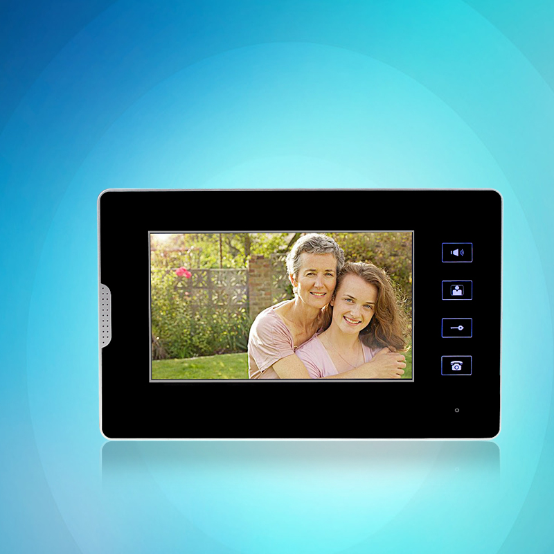 цена на Free Shipping 7 inch Color Video Door Phone DIY Intercom Monitor Screen Indoor Station For Intercom System Without Camera