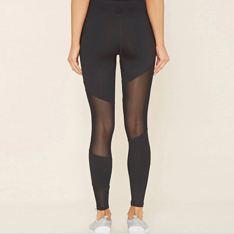 b12fa26cfb63d0 Product Show. Stylish Sexy Mesh Patchwork Sports Leggings Women Fitness  Clothing Black Gym Sportswear Running Ankle Length ...