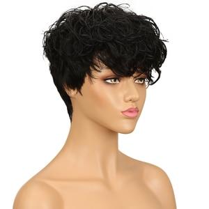 Image 3 - מלוטש ברזילאי רומנטיקה מארג פאות גל מים פאת רמי צבעוני שיער טבעי פאות משלוח חינם Perruque Cheveux Humain