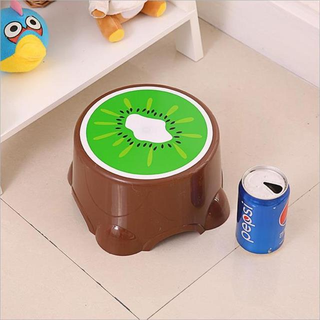 Fruit Trumpet Children's Stool Cute Plastic Stool Round Stool Baby Cartoon Stool Thickened Bench  Chair for Children 4