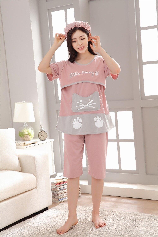 Pijama para Mulheres Grávidas Pijama de Algodão