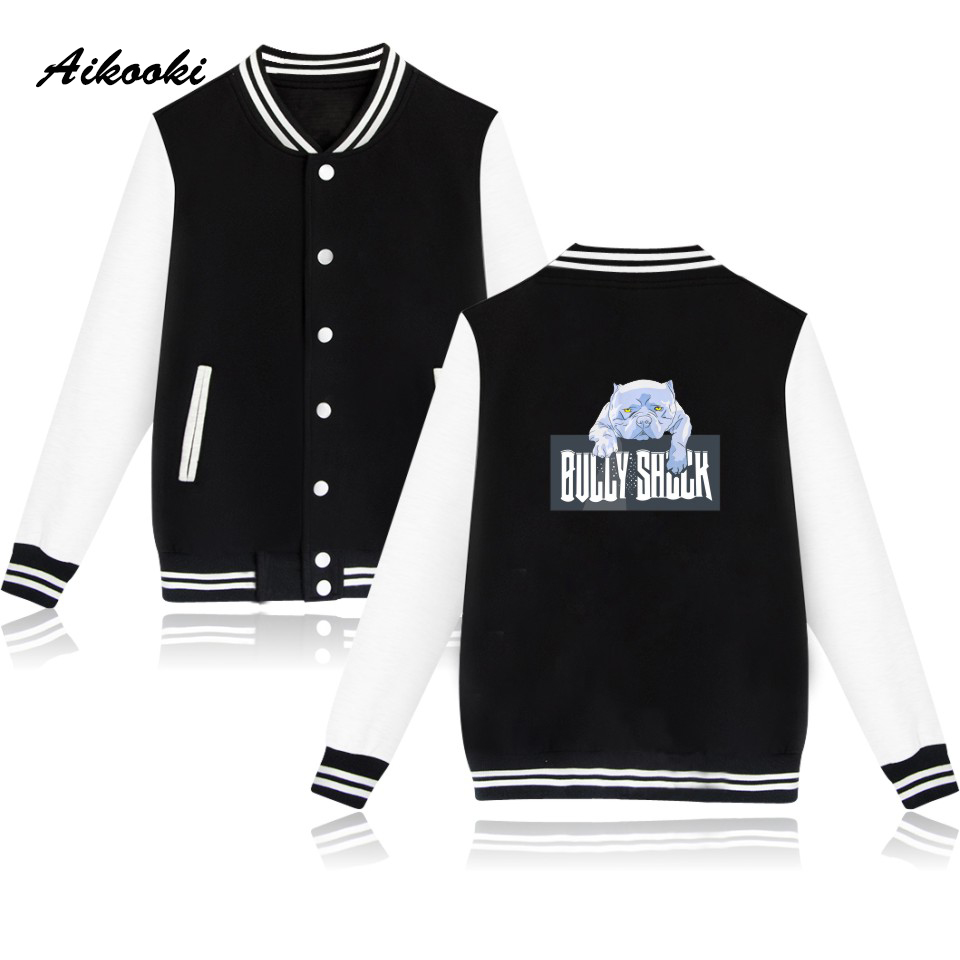 Aikooki Bully Shock Dog Baseball Jacket Women Men Garment And Fashion Pink Cute Chic Autumn Jacket Women Hoodie Jacket Clothes Professional Design