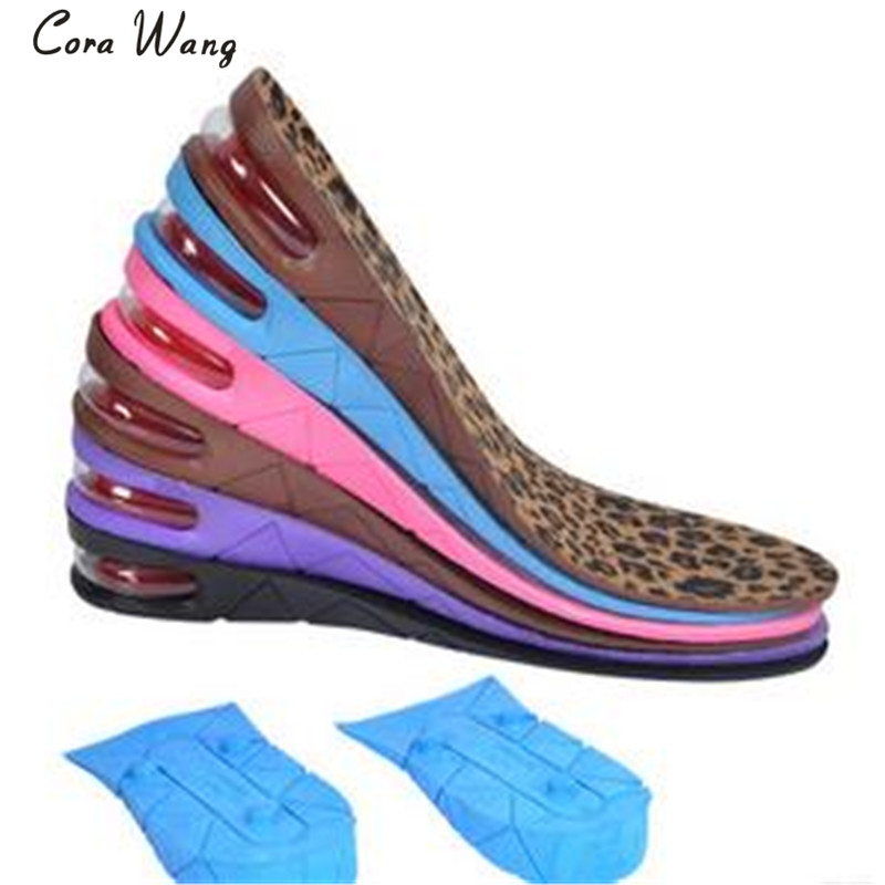 CORA WANG 3-layers insole height  increased cushioned insole cushioned shoes inserts men's women's soles 3/5/7cm DD2ISA1012
